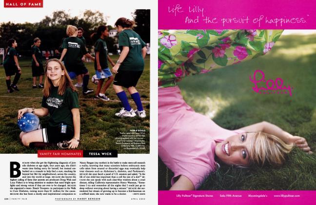 Article Preview: VANITY FAIR NOMINATES TESSA WICK, April 2003 2003 | Vanity Fair