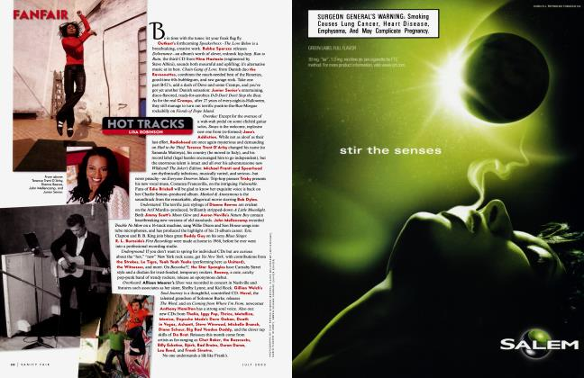 Article Preview: HOT TRACKS LISA ROBINSON, JULY 2003 2003 | Vanity Fair