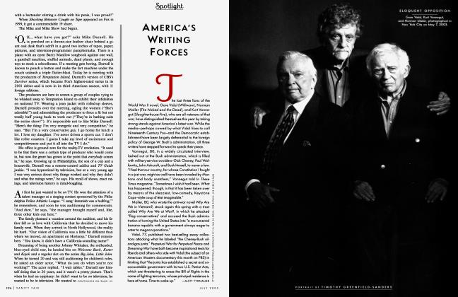 Article Preview: AMERICA'S WRITING FORCES, JULY 2003 2003 | Vanity Fair