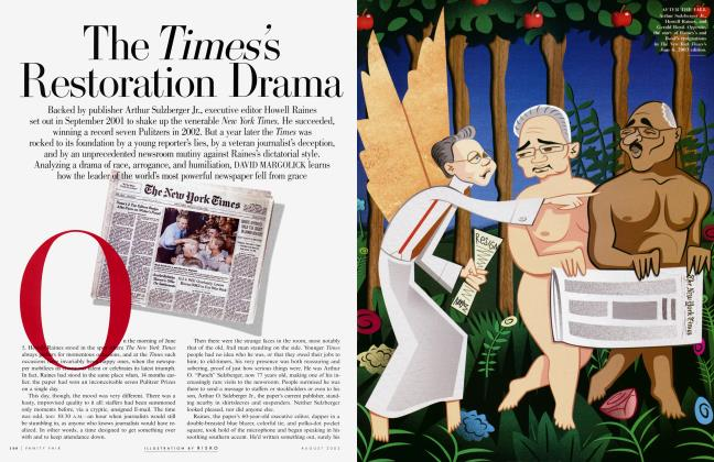 Article Preview: The Times's Restoration Drama, August 2003 2003 | Vanity Fair