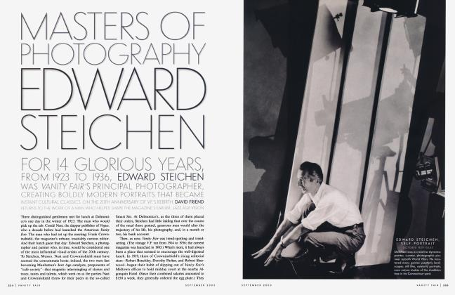 Article Preview: MASTERS OF PHOTOGRAPHY: EDWARD STEICHEN, September 2003 2003 | Vanity Fair