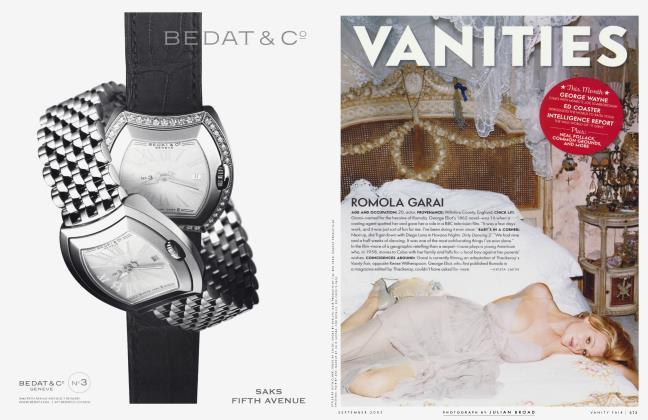 Article Preview: ROMALA GARAI, September 2003 2003 | Vanity Fair