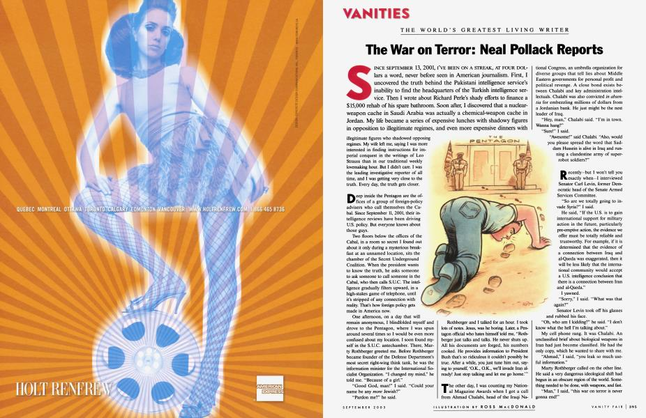 The War on Terror: Neal Pollack Reports
