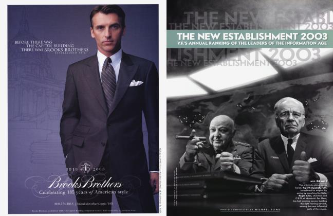Article Preview: THE NEW ESTABLISHMENT 2003, October 2003 | Vanity Fair