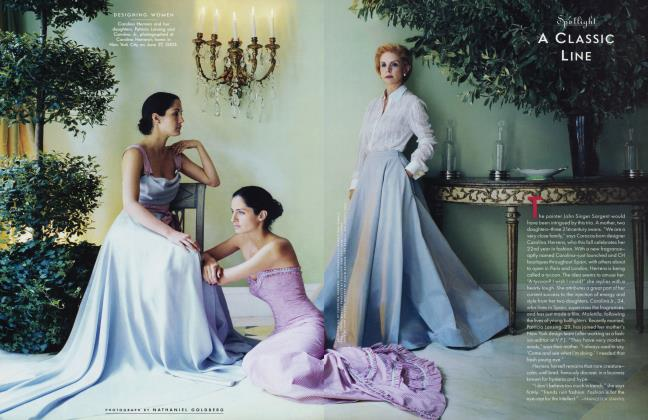 Article Preview: A CLASSIC LINE, October 2003 2003 | Vanity Fair