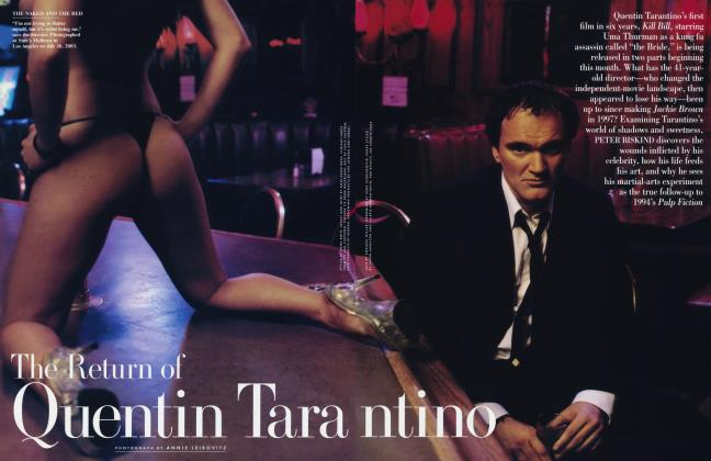 Article Preview: The Return of Quentin Tarantino, October 2003 | Vanity Fair