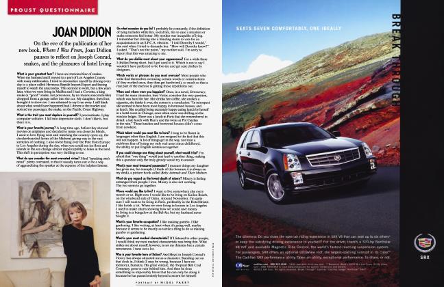 Article Preview: JOAN DIDION, October 2003 2003 | Vanity Fair