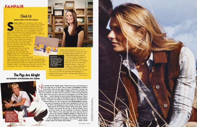 Article Preview: The Pigs Are Alright, October 2003 2003 | Vanity Fair