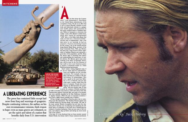 Article Preview: A LIBERATING EXPERIENCE, October 2003 2003 | Vanity Fair