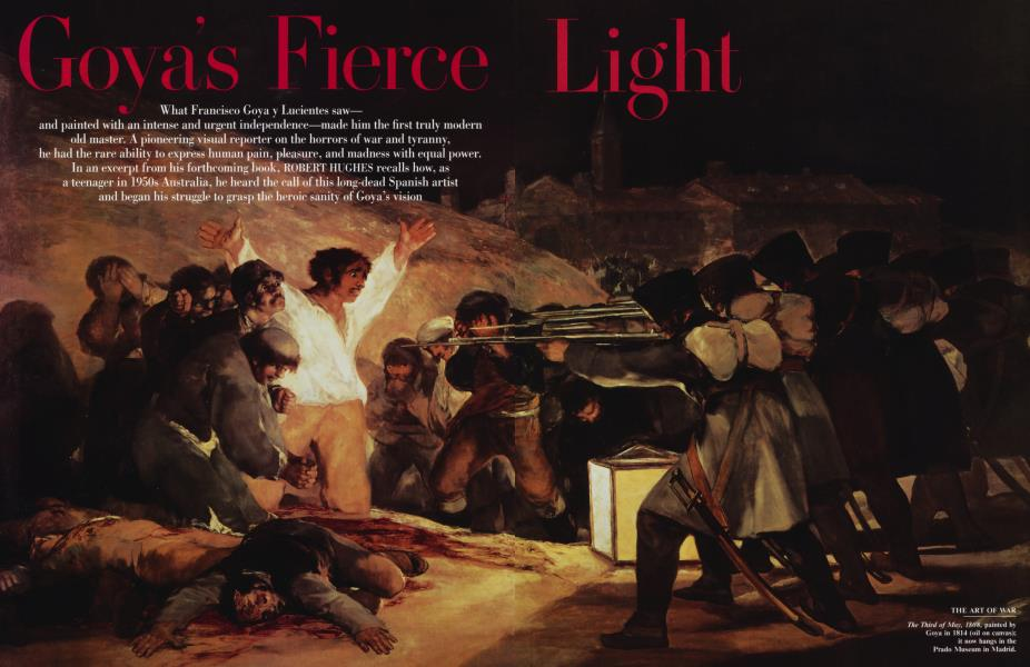 Goya's Fierce Light