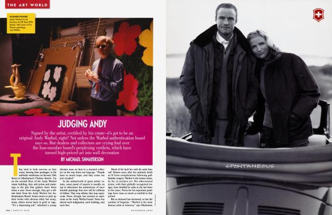 Article Preview: JUDGING ANDY, November 2003 | Vanity Fair