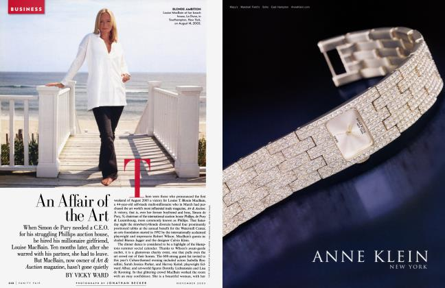 Article Preview: An Affair of the Art, November 2003 2003 | Vanity Fair