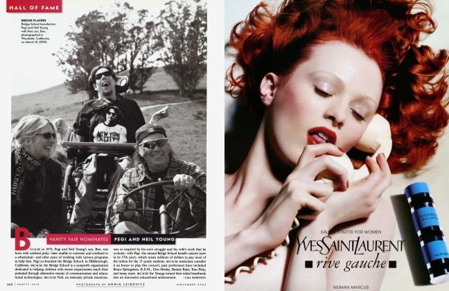 Article Preview: VANITY FAIR NOMINATES PEGI AND NEIL YOUNG, November 2003 2003 | Vanity Fair