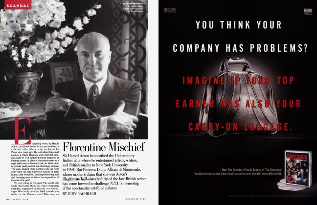 Article Preview: Florentine Mischief, December 2003 | Vanity Fair