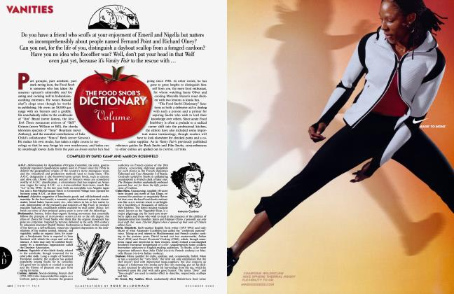 Article Preview: THE FOOD SNOB'S DICTIONARY Volume 1, December 2003 2003 | Vanity Fair