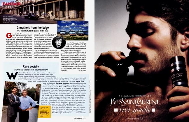 Article Preview: Snapshots from the Edge, December 2003 2003   Vanity Fair