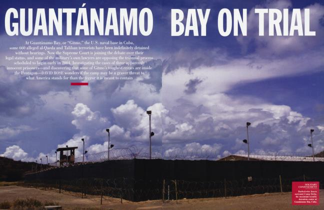 Article Preview: GUANTÁNAMO BAY ON TRIAL, January 2004 | Vanity Fair