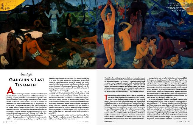 Article Preview: GAUGUIN'S LAST TESTAMENT, February 2004 2004 | Vanity Fair