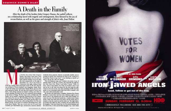 Article Preview: A Death in the Family, March 2004 2004   Vanity Fair