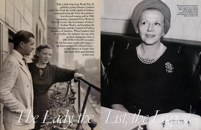Article Preview: The Lady, the List, the Legacy, April 2004 2004 | Vanity Fair
