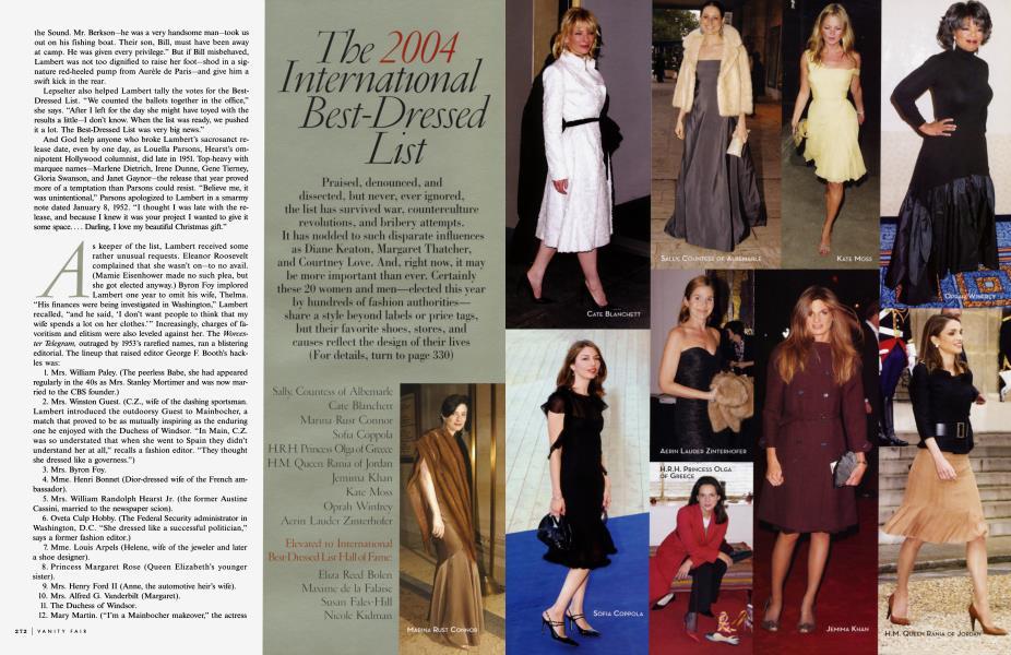 The 2004 International Best-Dressed List