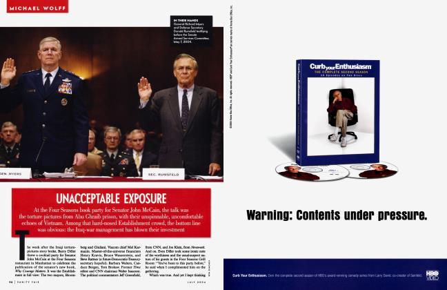 Article Preview: UNACCEPTABLE EXPOSURE, July 2004 2004   Vanity Fair