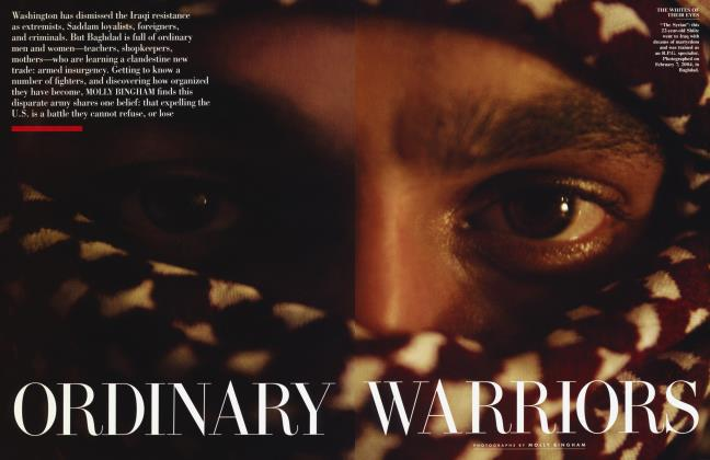 Article Preview: ORDINARY WARRIORS, July 2004 | Vanity Fair