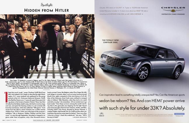 Article Preview: HIDDEN FROM HITLER, August 2004 2004   Vanity Fair
