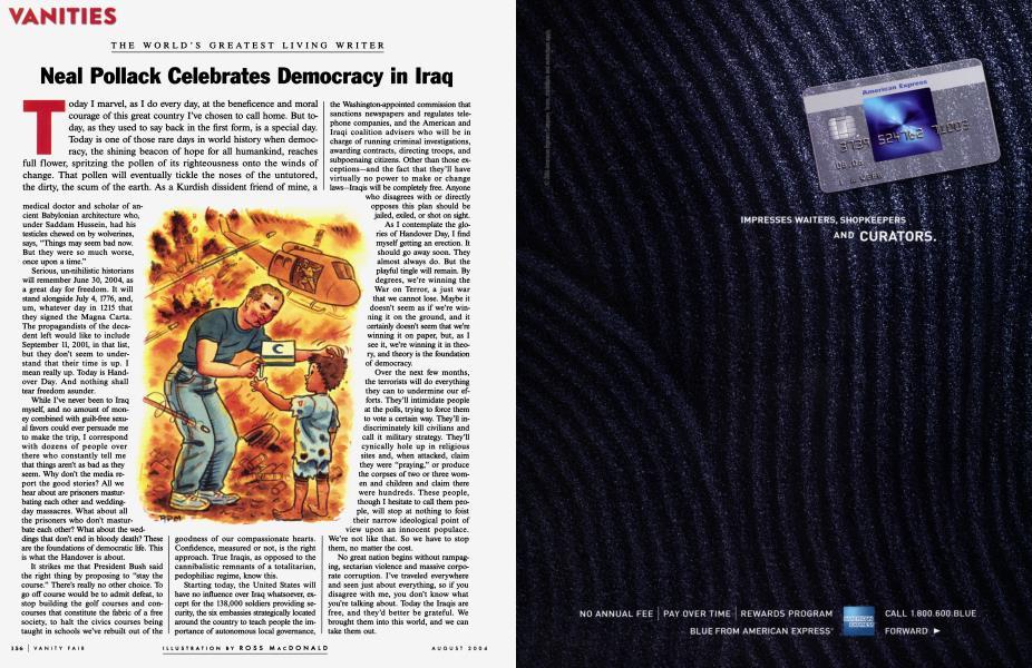 Neal Pollack Celebrates Democracy in Iraq