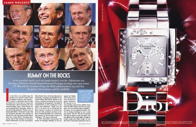 Article Preview: RUMMY ON THE ROCKS, October 2004 2004 | Vanity Fair