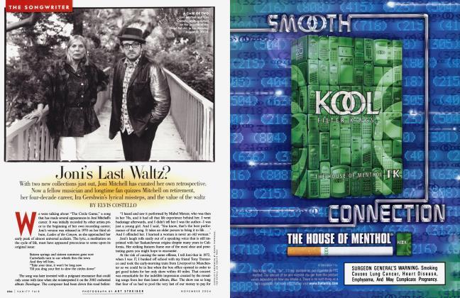 Article Preview: Joni's Last Waltz?, November 2004 2004 | Vanity Fair