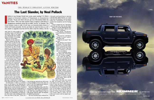 Article Preview: The Last Slander, by Neal Pollack, November 2004 2004 | Vanity Fair