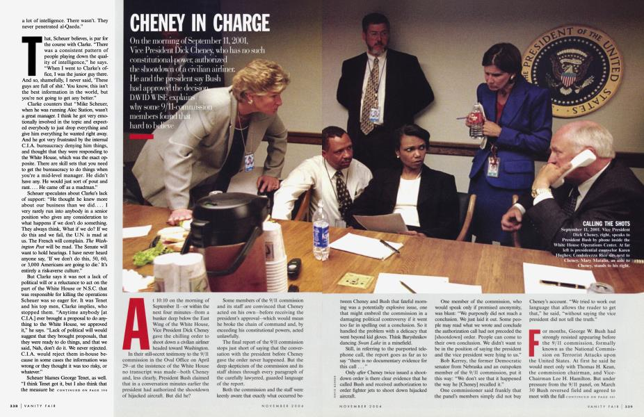 CHENEY IN CHARGE