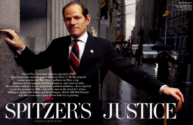 Article Preview: SPITZER'S JUSTICE, January 2005 | Vanity Fair