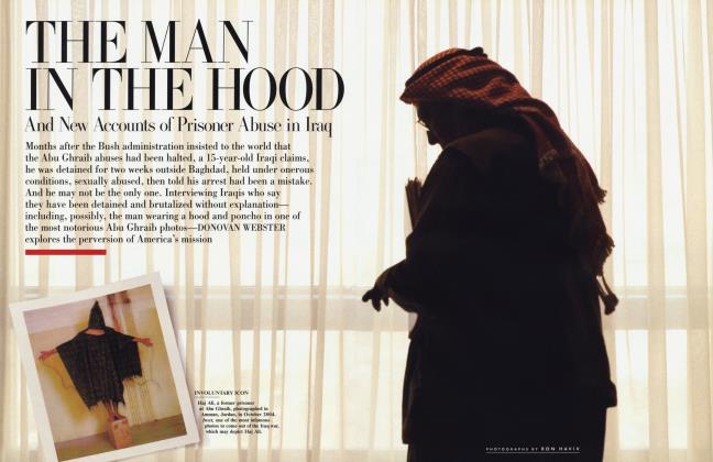 Article Preview: THE MAN IN THE HOOD And New Accounts of Prisoner Abuse in Iraq, February 2005 2005 | Vanity Fair