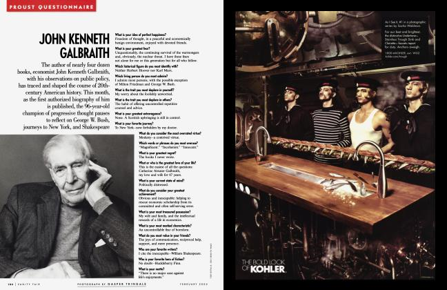 Article Preview: JOHN KENNETH GALBRAITH, February 2005 2005 | Vanity Fair