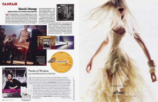 Article Preview: Miuccia's Message, March 2005 2005   Vanity Fair
