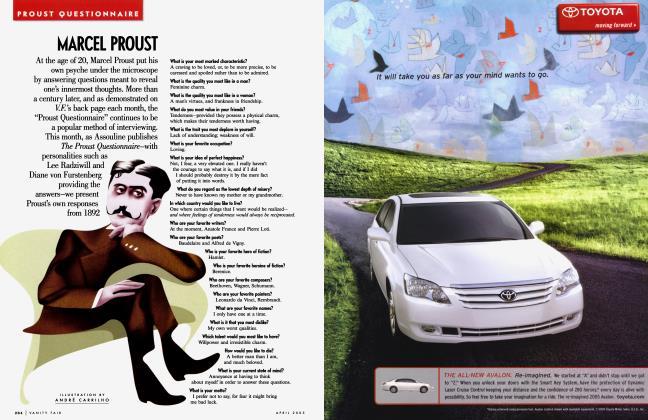 Article Preview: MARCEL PROUST, April 2005 2005   Vanity Fair