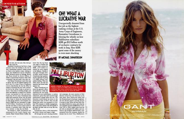 Article Preview: OH! WHAT A LUCRATIVE WAR, April 2005 2005 | Vanity Fair