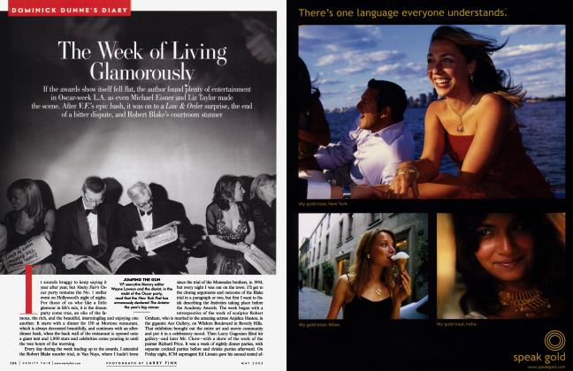 Article Preview: The Week of Living Glamorously, May 2005 2005 | Vanity Fair