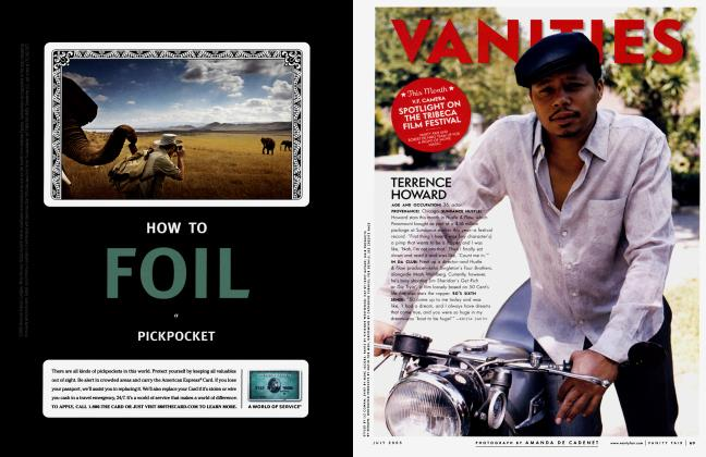 Article Preview: TERRENCE HOWARD, July 2005 2005 | Vanity Fair