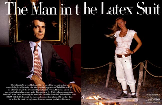 Article Preview: The Man in the Latex Suit, July 2005 | Vanity Fair
