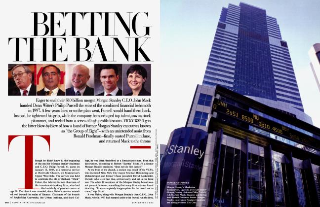 Article Preview: BETTING THE BANK, September 2005 2005 | Vanity Fair