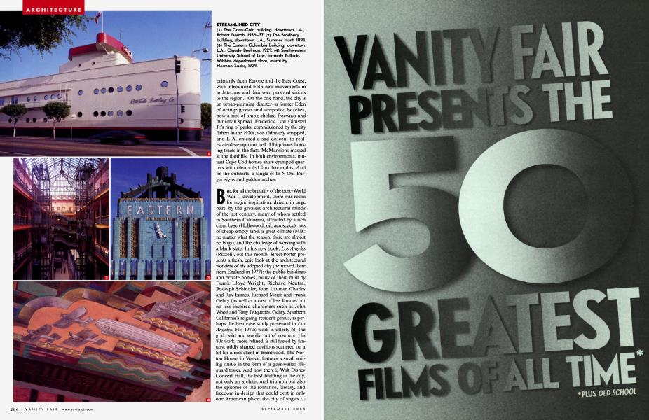 VANITY FAIR PRESENTS THE 50 GREATEST FILMS OF ALL TIME