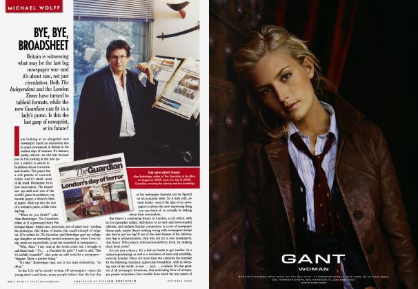 Article Preview: BYE, BYE, BROADSHEET, October 2005 2005 | Vanity Fair