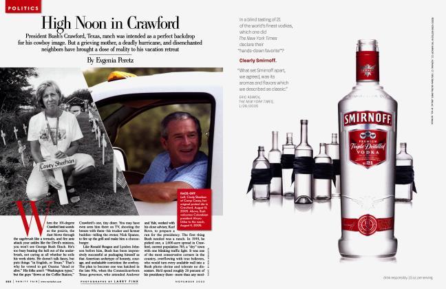 Article Preview: High Noon in Crawford, November 2005 2005 | Vanity Fair