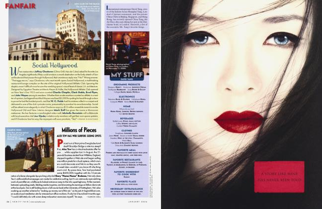 Article Preview: Social Hollywood, January 2006 2006 | Vanity Fair