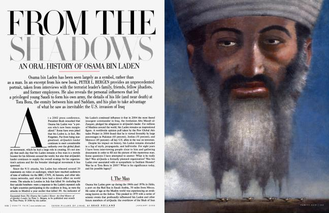 Article Preview: FROM THE SHADOWS AN ORAL HISTORY OF OSAMA BIN LADEN, January 2006 2006 | Vanity Fair