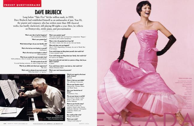 Article Preview: DAVE BRUBECK, March 2006 2006 | Vanity Fair