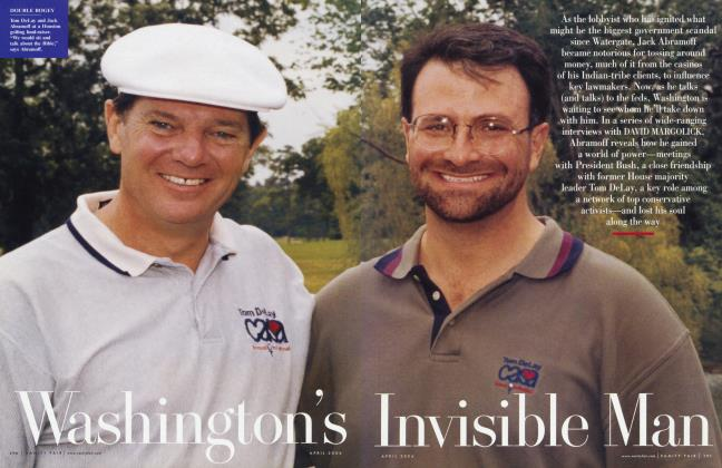 Article Preview: Washington's Invisible Man, April 2006 2006 | Vanity Fair